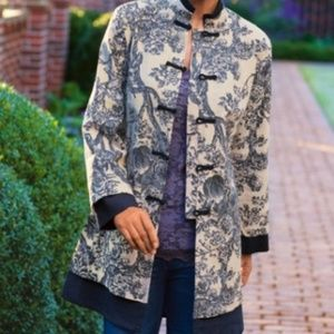 Soft Surroundings Layered Floral Empress Jacket